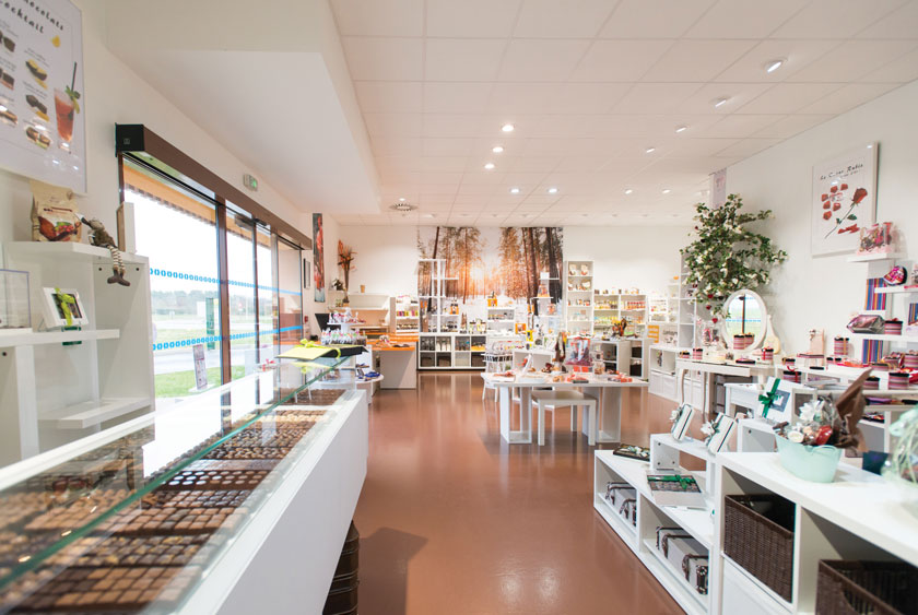Showroom chocolaterie de Manthelan