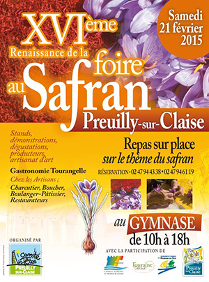 affiche foire au safran Preuilly