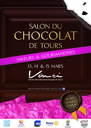 affiche salon du chocolat tours