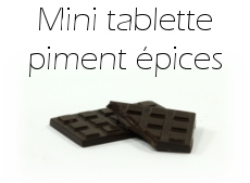 Mini tablette de chocolat piment et épices
