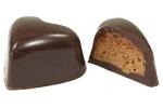 Composition Coeur chocolat noir croustillant praliné