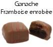 Chocolat ganache framboise enrobée