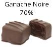 Chocolat ganache chocolat noir 70% de cacao