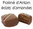 Chocolat praliné d'antan éclats d'amandes