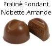 Chocolat praliné fondant noisettes amandes