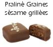 Chocolat praliné graines de sésame grillées