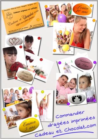 Dragées imprimées personnalisées cadeauetchocolat.com