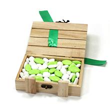 La bonbonnière caisse en bois de dragées au chocolat cadeau parrain marraine