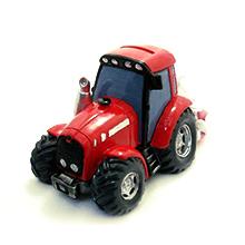 La tirelire centre de table tracteur rouge et ses dragées