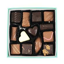La boite de chocolats spéciale St Valentin motif fleur