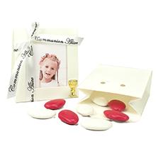 Le contenant à dragées cadre photo carton décoration communion