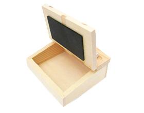Contenant bois écritoire en bois pour dragées mariage bapteme communion ou anniversaire
