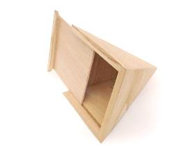 Contenant bois grande pyramide pour dragées mariage bapteme communion ou anniversaire