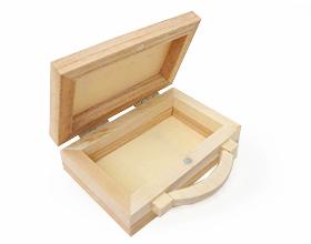 Contenant en bois valise pour dragée mariage, baptême, communion ou anniversaire