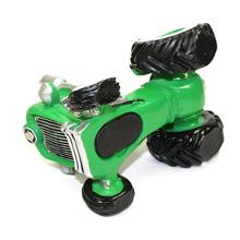 La tirelire tracteur vert pour cadeau parrain marraine baptême fille ou garçon