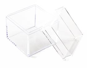 Petite boite plexiglas cube contenant à dragées