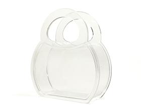 Petite boite plexiglas sac à main contenant à dragées