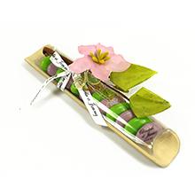 Le contenant à dragées bambou personnalisable pour mariage