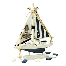 Le centre de table bateau voilier pour cadeau parrain marraine ou mariage