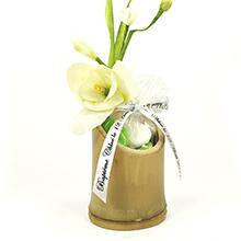Le contenant à dragées bambou biseauté pour mariage