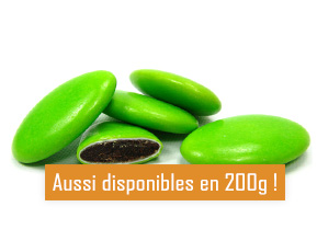 Les dragées au chocolat vert anis pour mariage baptême ou communion