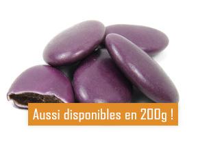 Les dragées au chocolat couleur violet pour mariage baptême ou communion