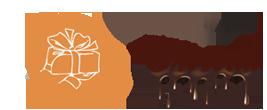 Logo de noël Cadeau Et Chocolat