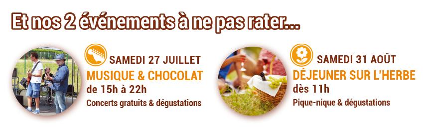 Les événements de l'été à la chocolaterie de Manthelan
