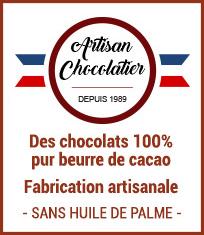 Chocolaterie artisanale et chocolat 100% pur beurre de cacao