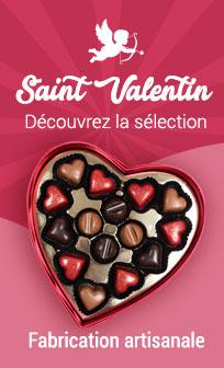 Chocolat de Saint Valentin coffrets et cadeaux gourmands
