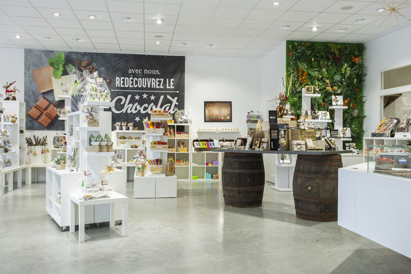 Showroom chocolaterie de Chambray