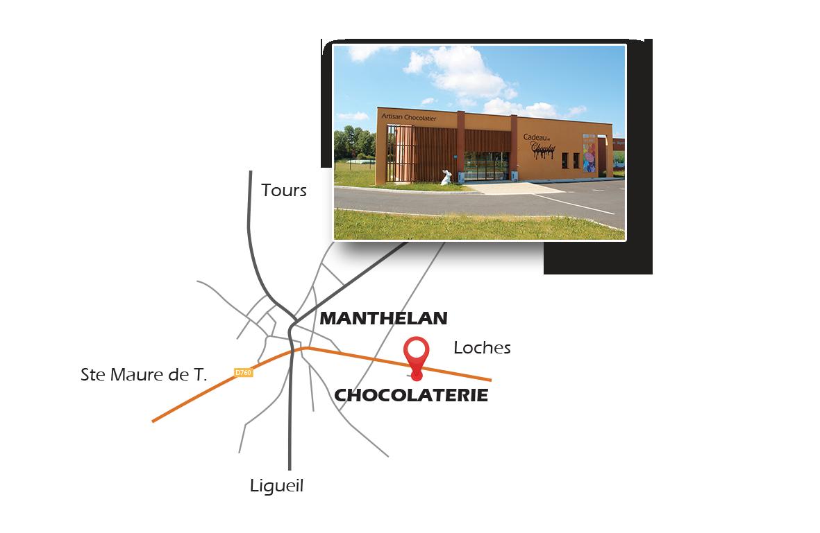 Accès chocolaterie de manthelan 37240