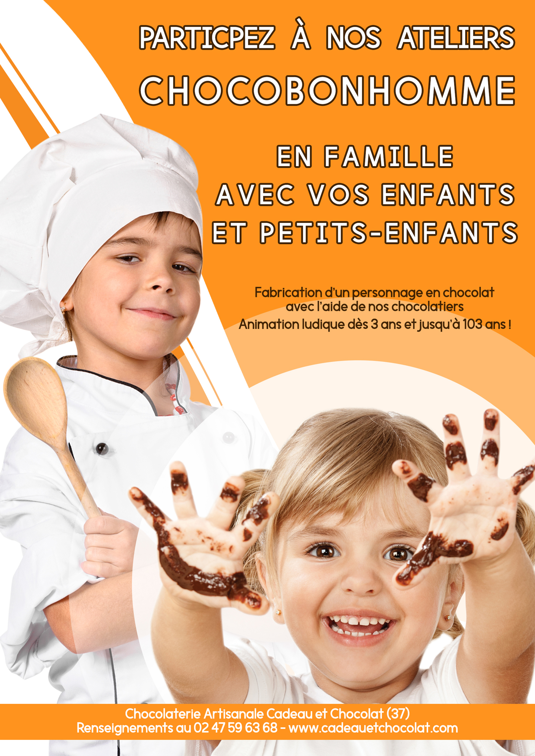 Atelier chocolat pour enfant indre et loire