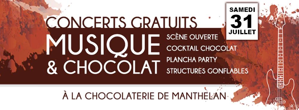 Musique et Chocolat chez cadeauetchocolat à Manthelan juillet 2020