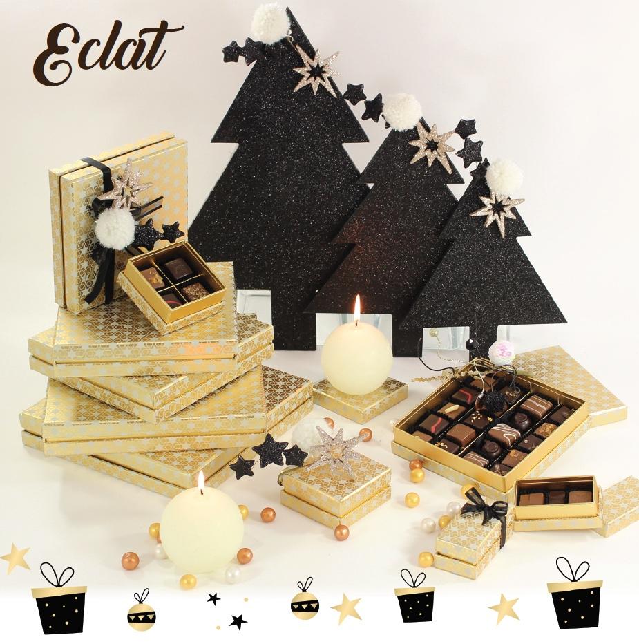 Collection Eclat - Boites de chocolats pour cadeaux d'affaire entreprise - Cadeau et Chocolat.com