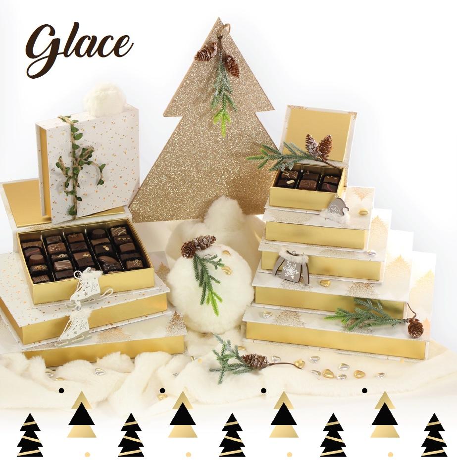 Collection Glace - Boites de chocolats pour cadeaux d'affaire entreprise - Cadeau et Chocolat.com