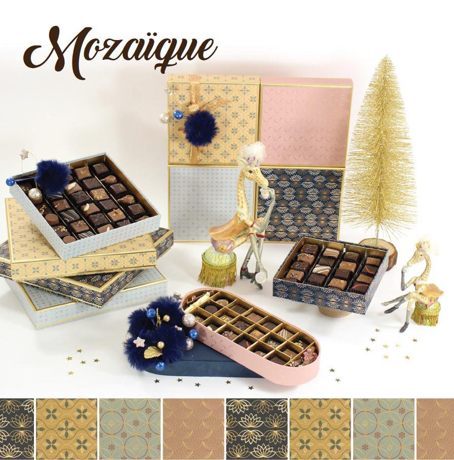 Collection Mozaïque - Boites de chocolats pour cadeaux d'affaire entreprise - Cadeau et Chocolat.com