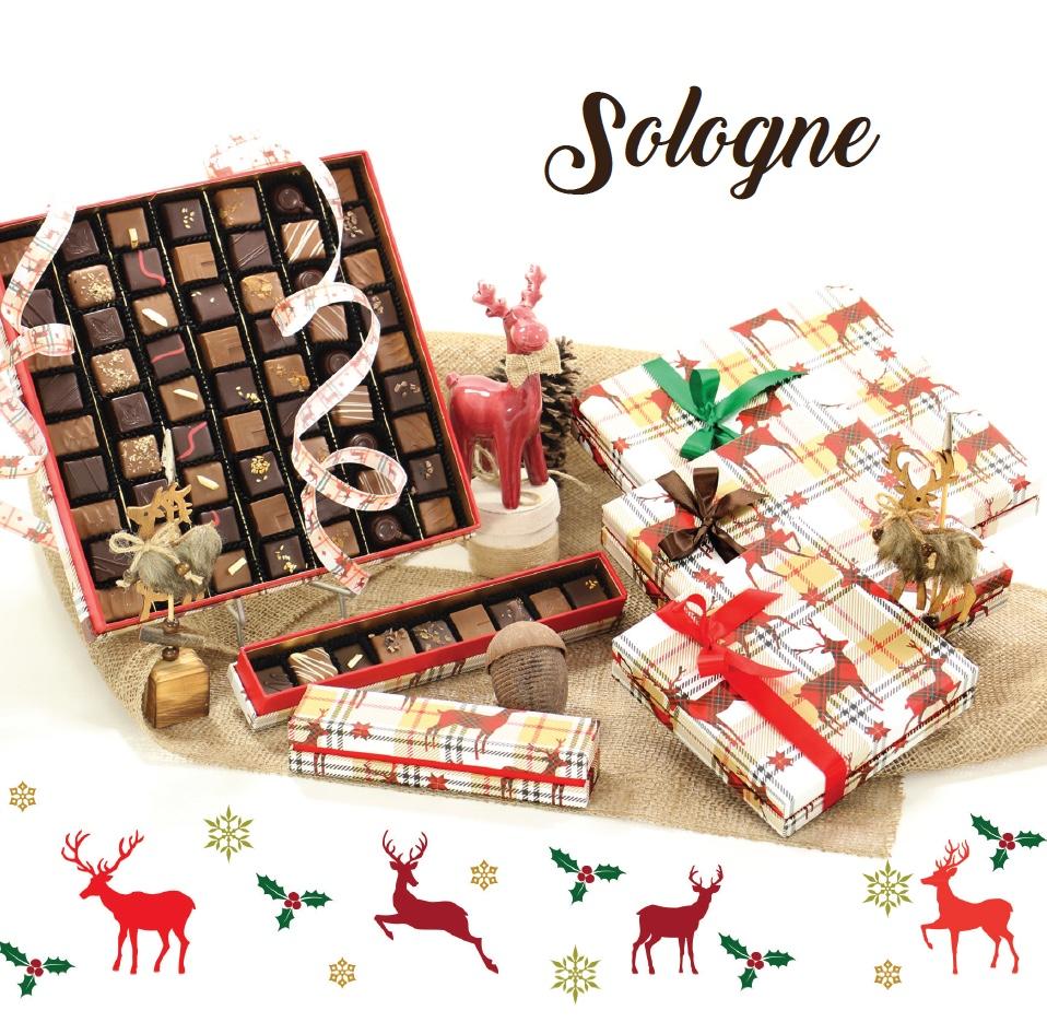 Collection Sologne - Boites de chocolats pour cadeaux d'affaire entreprise - Cadeau et Chocolat.com