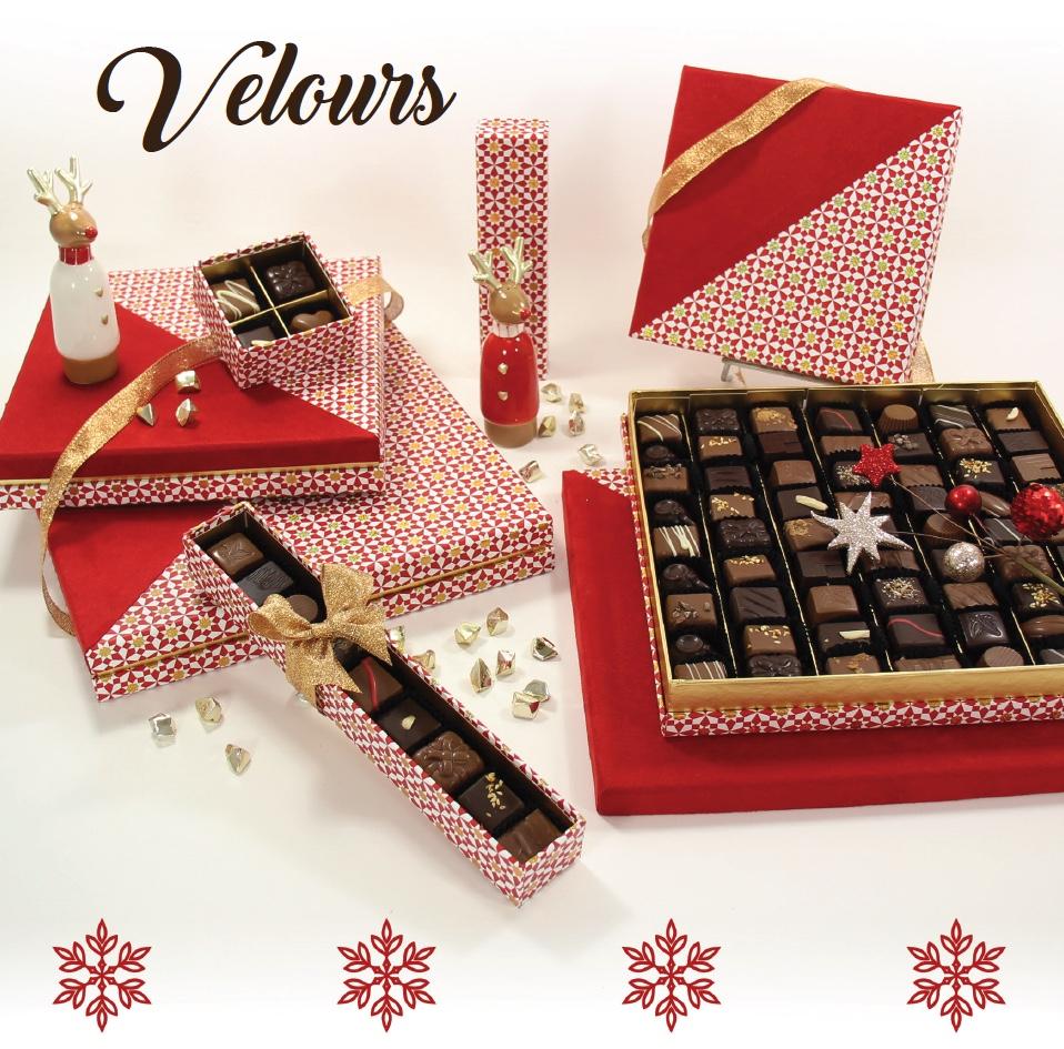Collection Velours - Boites de chocolats pour cadeaux d'affaire entreprise - Cadeau et Chocolat.com