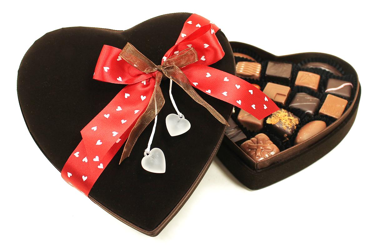 La boite coeur brun cadeau de st valentin bcmcval vente de drag es et de chocolats sur cadeau - Coeur pour la saint valentin ...