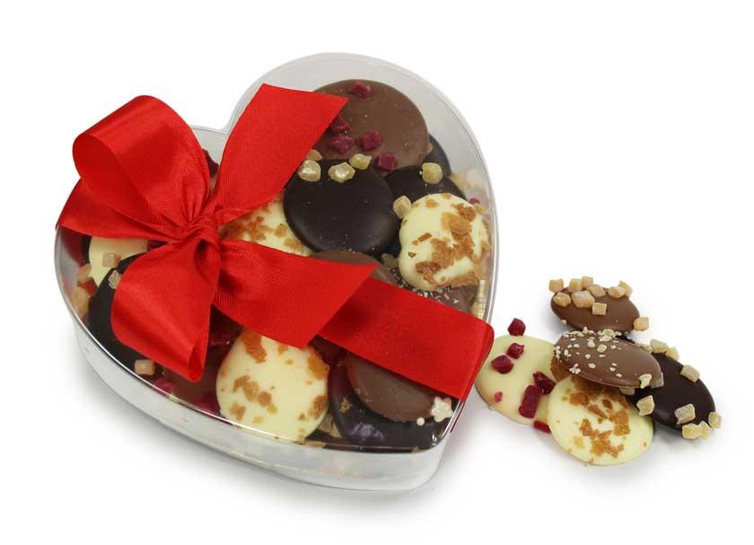 Palets gourmands en chocolat pour la Saint Valentin