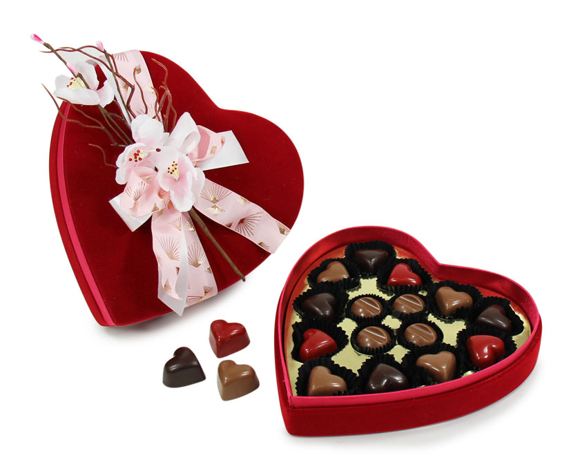 Coffret coeur chocolat pour la Saint Valentin