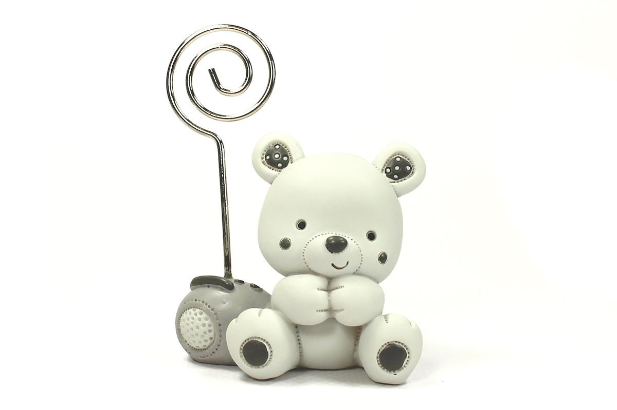 Le porte nom ours blanc gpnobv vente de drag es et de chocolats sur cadeau et chocolat - Porte photo bapteme garcon ...